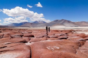 The Red Rocks of the Atacama Desert Chile.