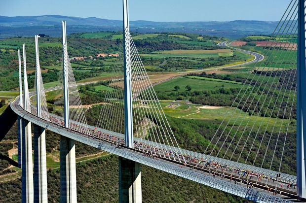 The Millau Viaduct, France It's nearly 2.5 kilometres long but the Millau Viaduct is about the height above the River ...