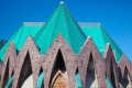 The roof of the Basilique Sainte-Anne in the colourful city of Brazzaville is crowned with glazed, malachite-green roof ...
