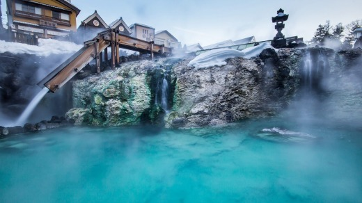 The Japanese visit onsen partly as a social habit, partly because dissolved minerals in the water are thought to impart ...