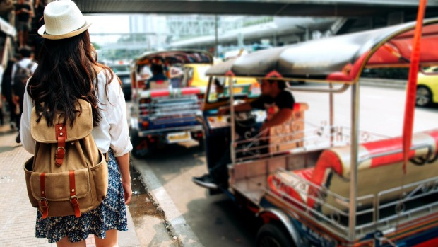 Tuk tuks are a common form of transport where travellers get scammed.
