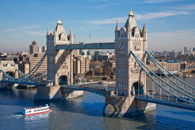 Tower Bridge, London, England: Some bridges are entirely functional, but it's safe to say that Tower Bridge leans ...