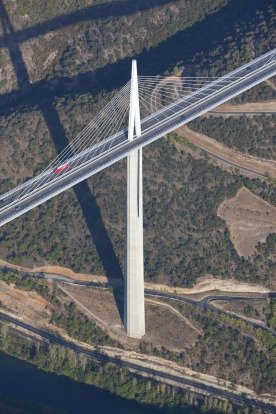 The Millau Viaduct, France: One of architect Sir Norman Foster's masterworks, the bridge opened in 2004, and has been ...