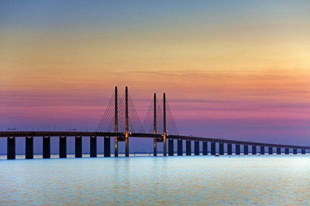 The Øresund Bridge, Malmo, Sweden: As border crossings go, the Øresund Bridge is pretty darned impressive, stretching ...