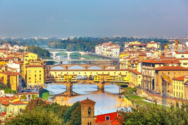 Ponte Vecchio, Florence, Italy: The medieval Italians clearly thought that sparing all that space purely to cross a ...