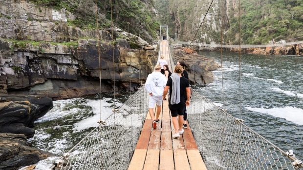 Bridges on The Garden Route National Park hiking trail, South Africa.