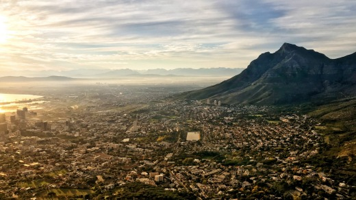 Sunrise from Lion's Head, Cape Town.