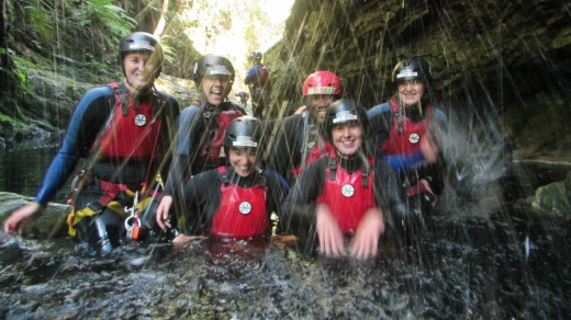 """Kloofing"" or canyoning in South Africa."