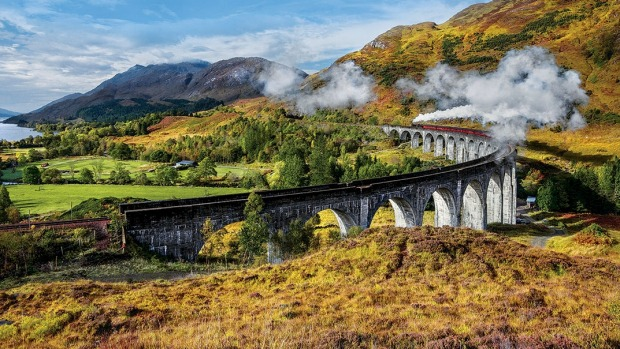 Scotland's iconic Jacobite steam train: The Harry Potter Express.