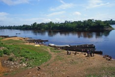 The Congo river in Dongou, Likouala district, Republic of Congo (Congo Brazzaville), March 2014. Editorial use only.