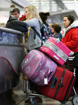 Baggage allowances can catch you out if you're changing from an international to a domestic flight.