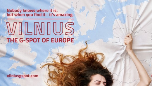 Vilnius new tourism campaign calling the Lithuanian capital 'The G-Spot of Europe' has created controversy.