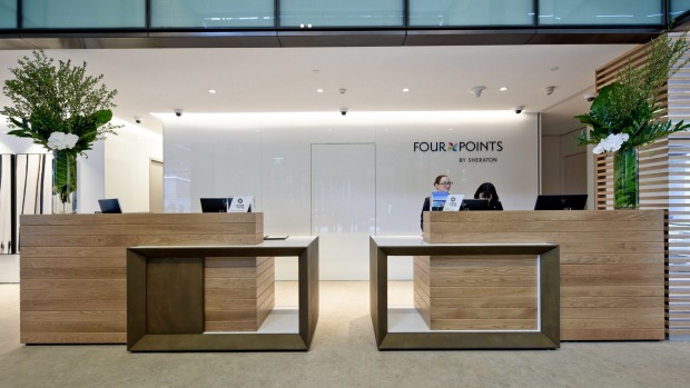 The Four Points by Sheraton Sydney, Central Park lobby.