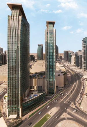 Shangri-La Doha Hotel is located within a 50-storey building.
