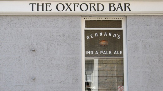 The Oxford Bar on Young Street, Edinburgh. The Scottish capital has many literary heroes.