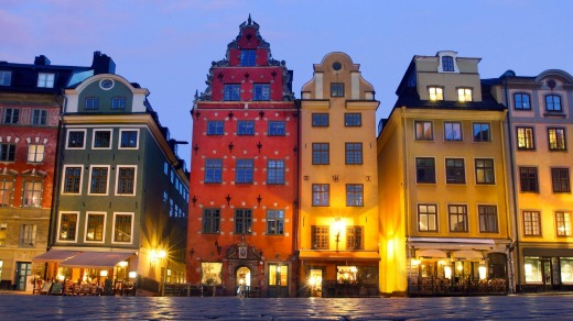 Stortorget in Gamla Stan (The Old Town), Stockholm. Stieg Larsson fans can follow in the footsteps of Lisbeth Salander ...