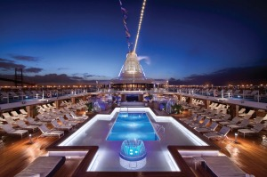 The pool deck on Oceania Cruises' Marina.