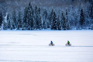 Fat biking in frosty Alberta, Canada.