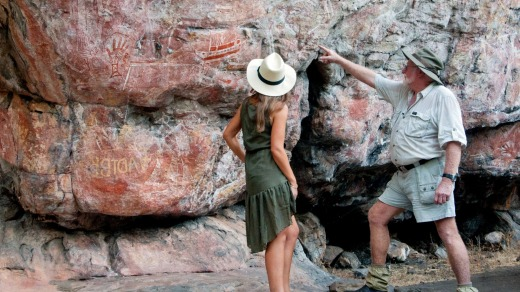 Indigenous rock art in Arnhem Land.