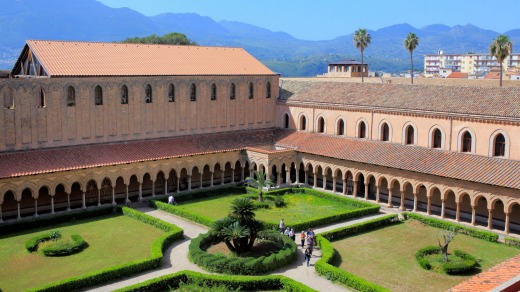 Cloister of Monreale Cathedral.