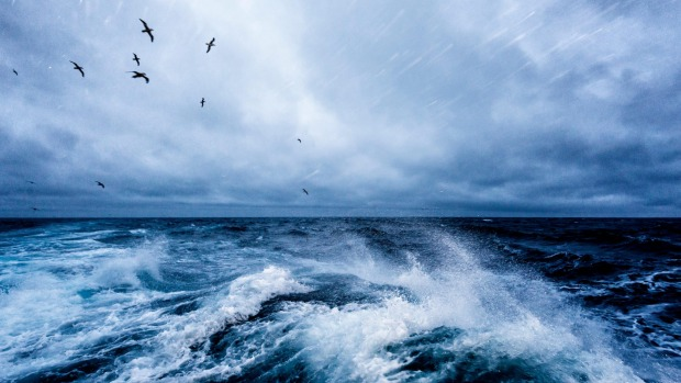 Windy conditions in the Drake Passage.