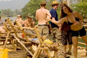 Riverside bars were all the rage in Vang Vieng, Laos, a few years back.