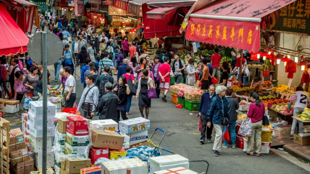 Bowrington Road Market, Hong Kong.