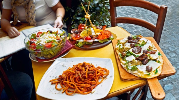 A summer dinner in Rome.