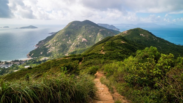 Hong Kong's Dragon's Back trail, voted the best urban hiking trail in Asia by <i>Time Magazine</I>.