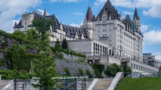 Popular spot: Fairmont Chateau Laurier Hotel opened in 1912 and is one of Ottawa's most beautiful buildings.