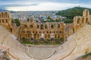 The Theatre of Dionysus at the Acropolis in Athens.