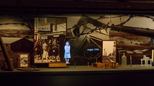 The hologram history of the Cowra Breakout at the Cowra Visitors Centre.