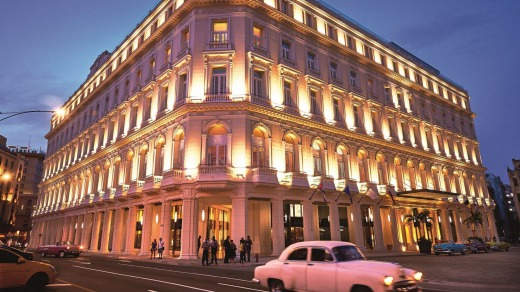The hotel was originally built between 1894 and 1917 as Cuba's first European-style shopping arcade.