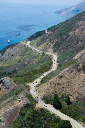 The Dream Drive celebrates the reopening of Highway 1, California's most epic road trip, Aug. 9, 2018, with a convoy of ...
