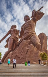 African Renaissance Monument, Dakar, Senegal: Builders from North Korea were called in to make this ambitious project in ...
