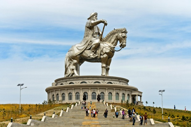 Genghis Khan Equestrian Statue, Tsonjin Boldog, Mongolia: Genghis Khan was an almost universally feared leader who ...