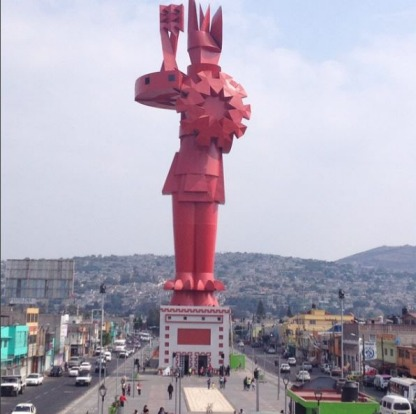 Chimalli Warrior, Chimalhuacan, Mexico: How do you get people to notice your statue? Make it really big, for starters. ...