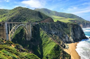 Bixby Bridge at Big Sur on California's Highway 1.