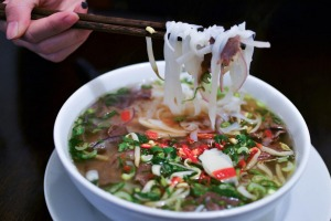 Traditional Vietnamese beef soup Pho Bo.
