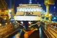 P&O's Pacific Aria has recently emerged from it's dry-dock refurbishment in Singapore.