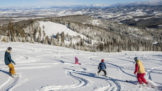 The resort is a good choice for families who ski.