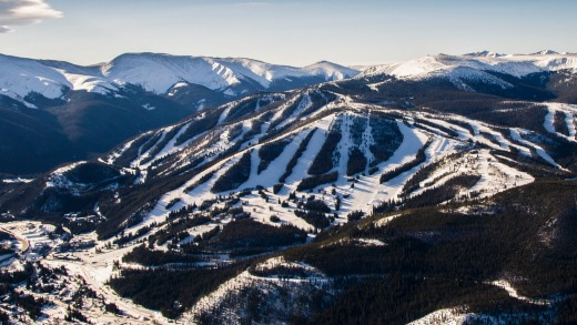 Aerial view over Winter Park Resort.