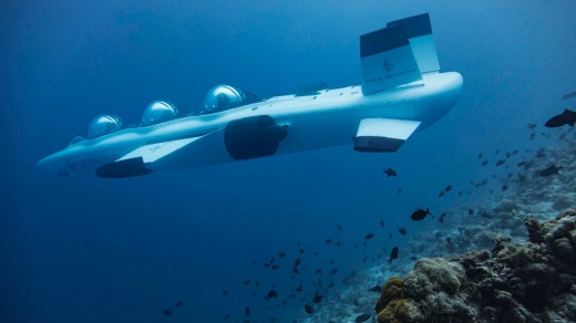 Landaa Giraavaru recently purchased the world's first three-person DeepFlight submarine, which takes passengers on a ...