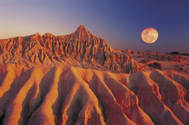 Mungo National Park, NSW: The landscapes are extraordinary, with solidified, wind-blown sand dunes and dry lakes making ...