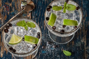 Gin and Tonics with Juniper Berries