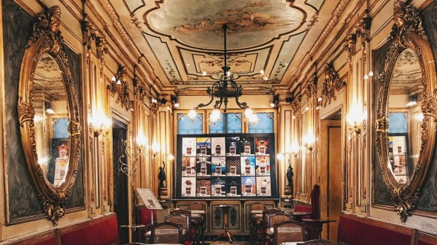 The inside of Caffe Florian.