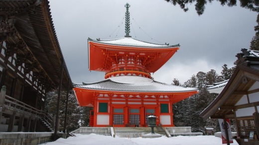 A temple pagoda in Koya.