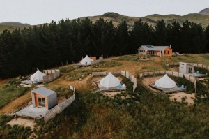 This new glamping experience is on a working farm in the foothills of Mount Domett in the Waitaki Valley, with sweeping ...