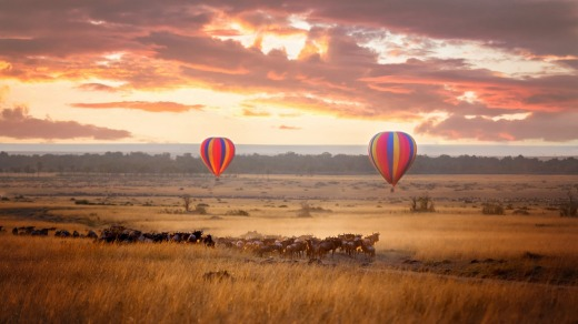 Balloon Safari over Kenya's Masai Mara.