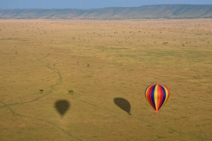 How's the serenity? Ballooning over the Masai Mara.